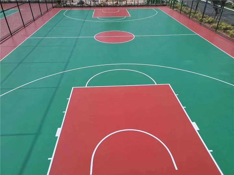塑胶篮球场案例