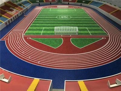 体育场塑胶跑道施工