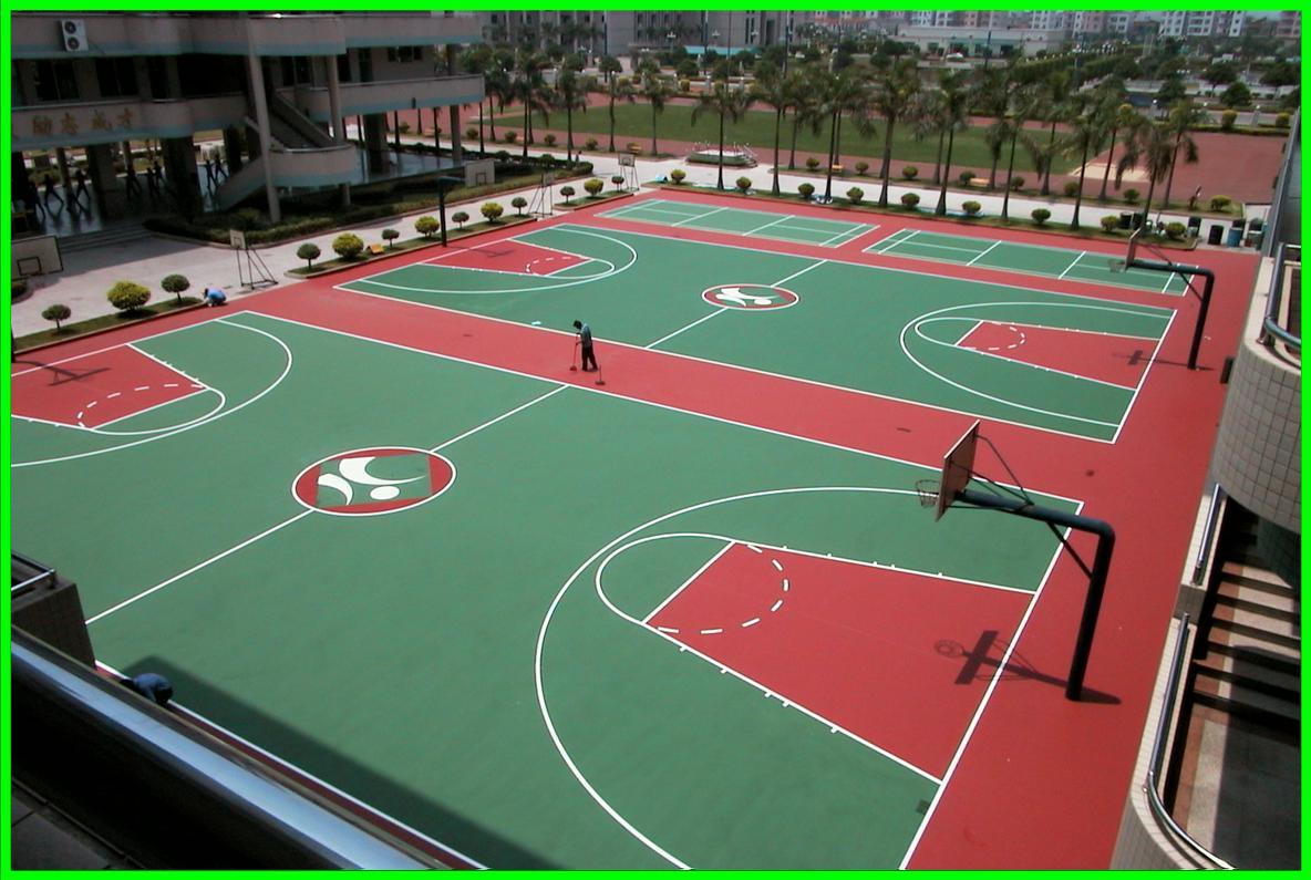 硅PU排球场