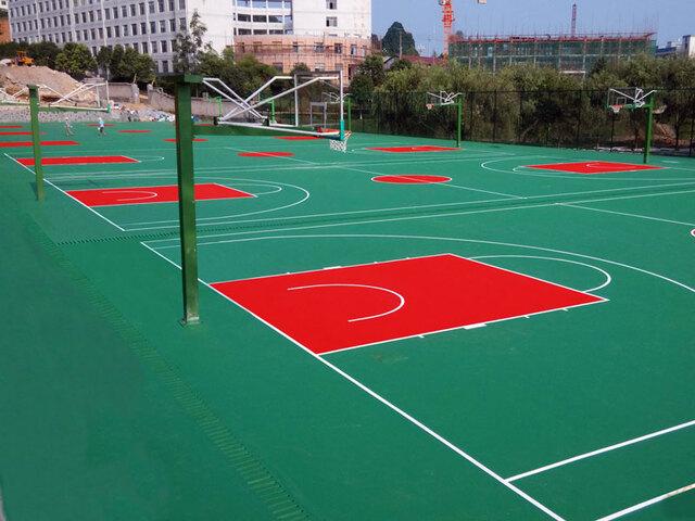 塑胶篮球场造价