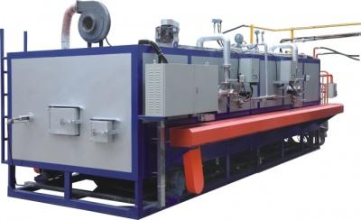 Double-gun energy-saving automatic multi-log hot shear furnace