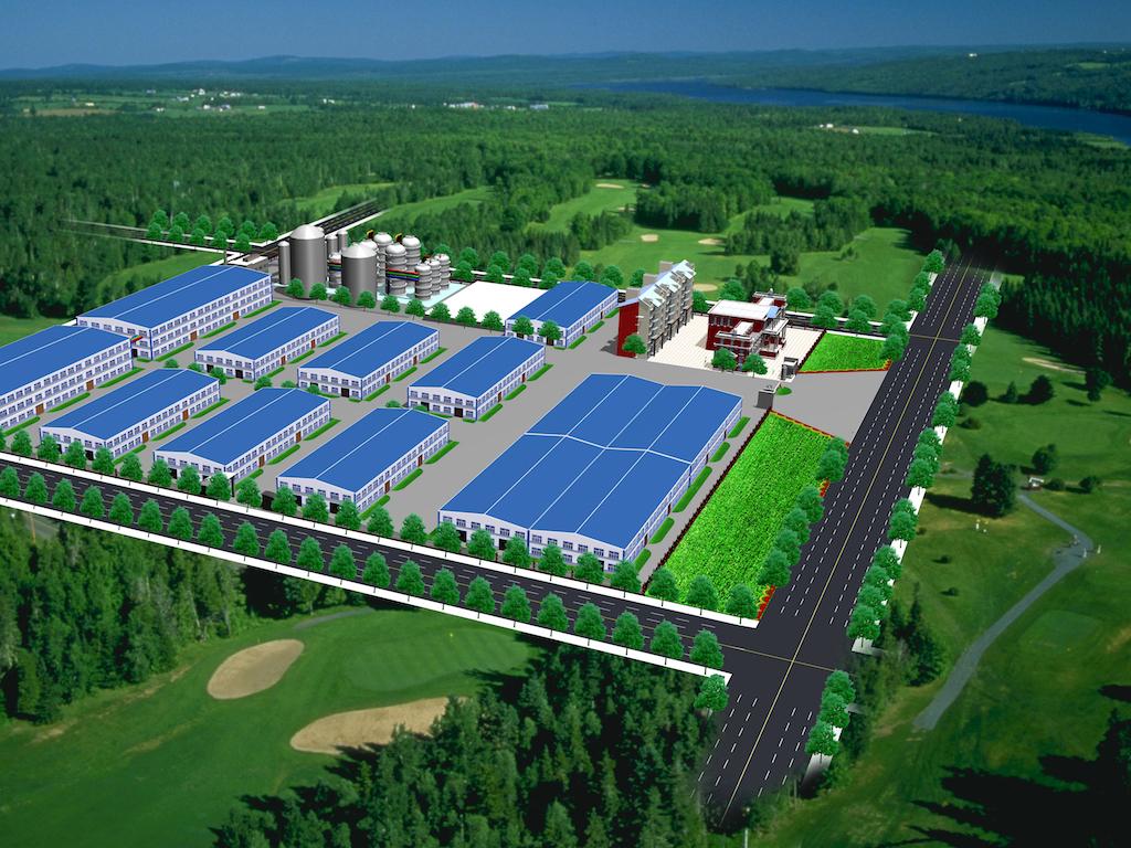 工厂俯视图