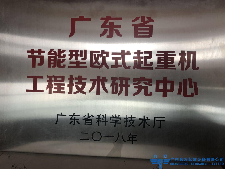 廣東省科學廳節能歐式起重機研發中心