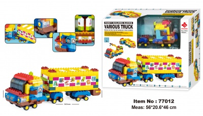 77012-Various Truck  building block 343PCS