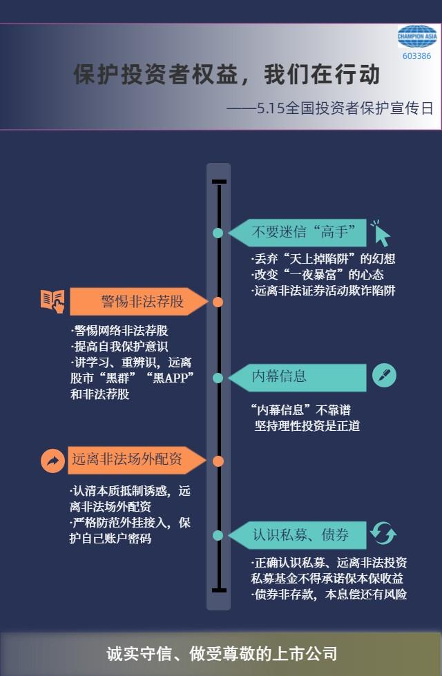 5.15全国投资者保护宣传日,广东骏亚在行动