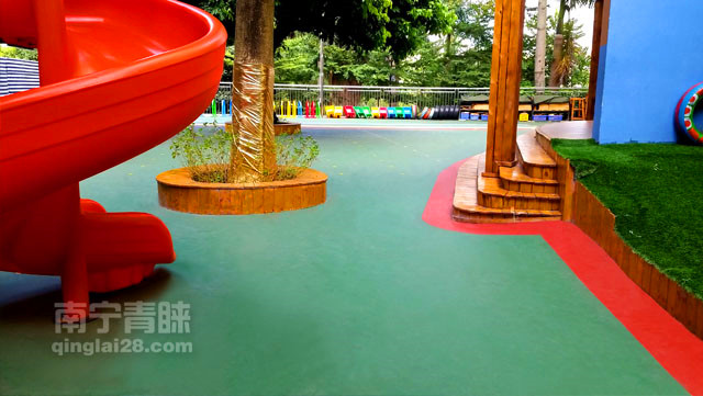 佛子岭幼儿园环保硅胶地板