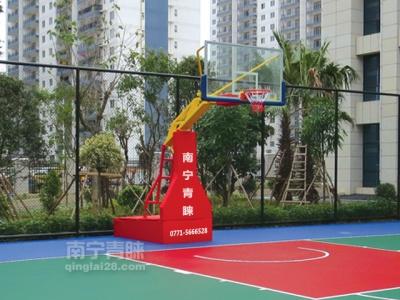 凤岭小区手动液压篮球架