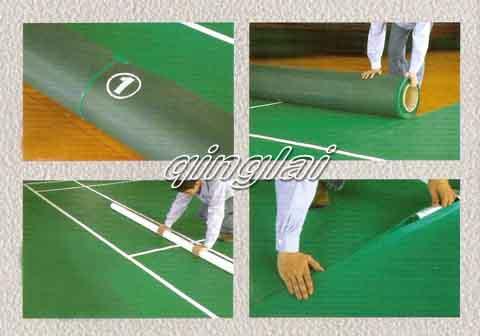 羽毛球移动式地板安装步骤