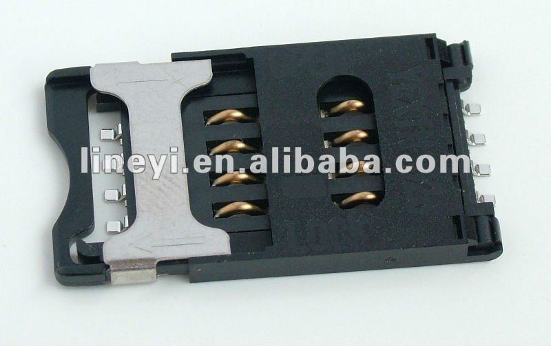 Metal Lock SIM Card Connector
