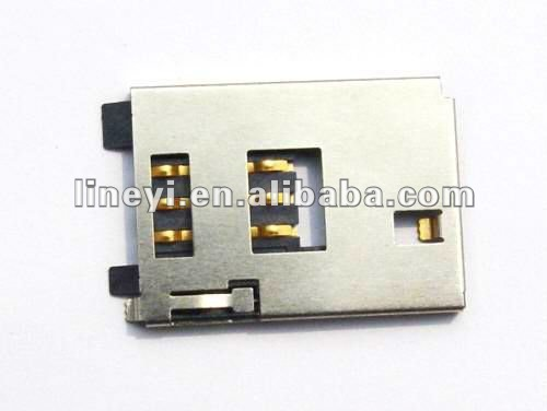 Push Push Type SIM Card Connector