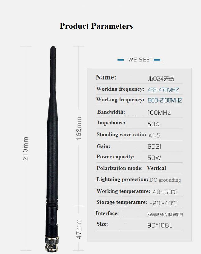 The Wireless Receiver Transmits A 433MHz Antenna