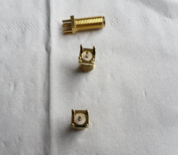 SMA Connector  with 4 solder tails