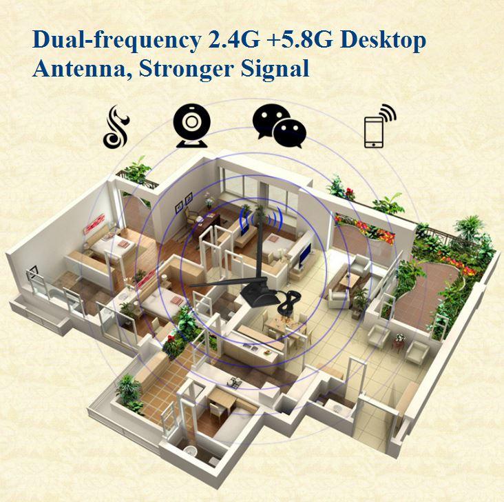 Dual Frequency 2.4G Dual Antenna