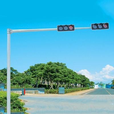 安装交通信号杆