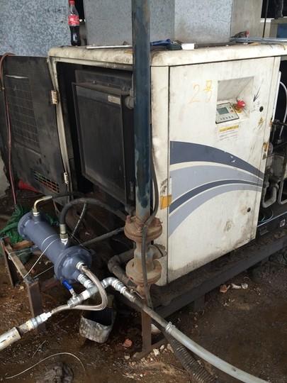 英格索兰空压机冷却器改装案例