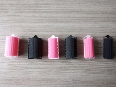 黑色粉色海绵发卷
