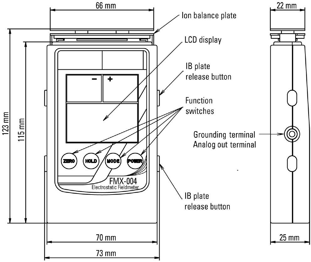 FMX-004 静电场测量表