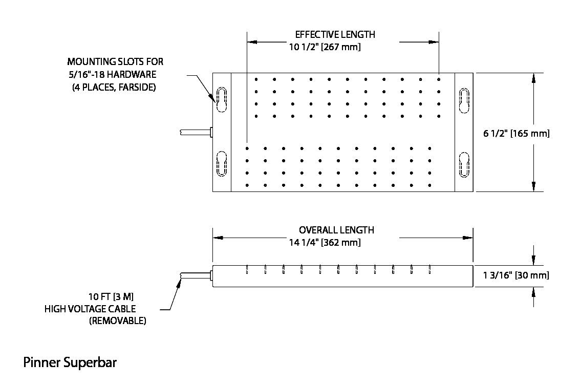 Pinner SP bar 静电板