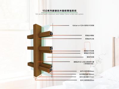 德重150系列健康铝木隐框幕墙
