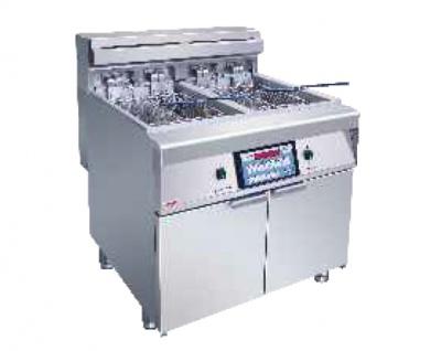 DZL28-2双缸四筛电脑版炸炉(带滤油车)