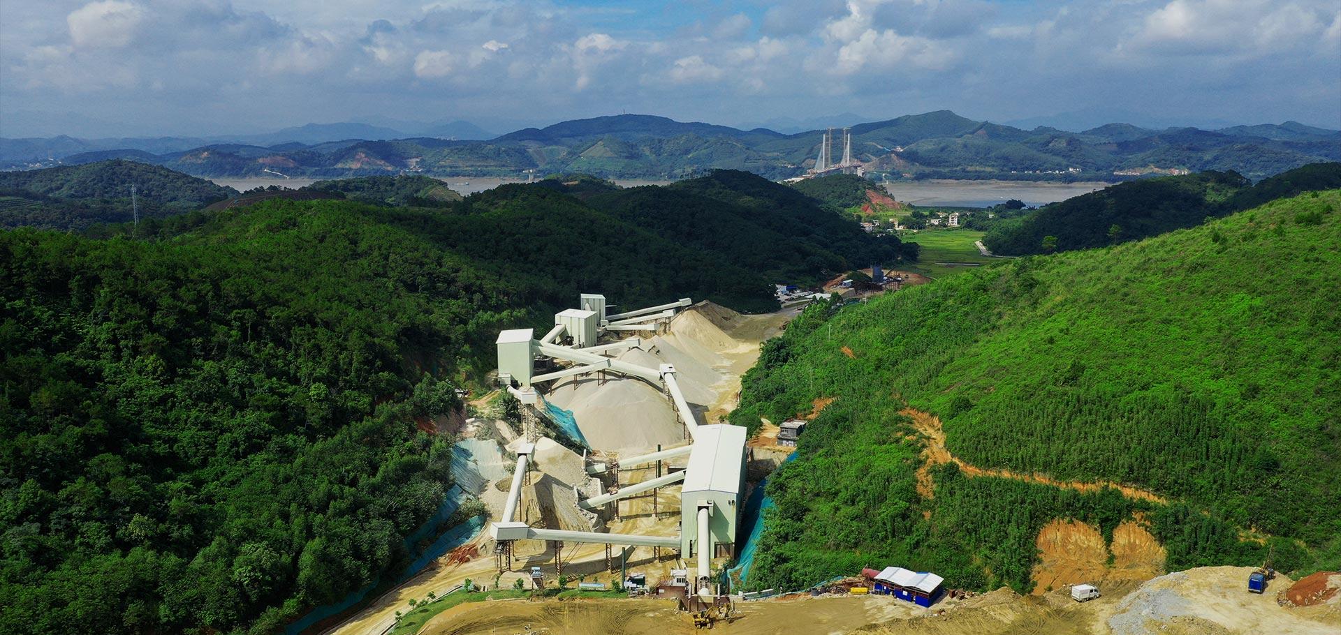 粵建礦業骨料生產線