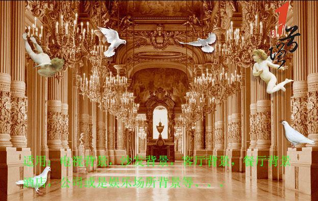 欧式皇家贵族3D天使背景墙