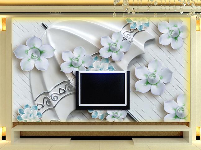 浮雕雨伞花朵 (1)