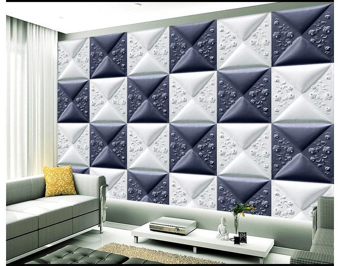 3D立体精美皮雕软包壁画电视背景墙