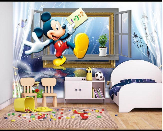 儿童房背景墙小孩房床头背景墙