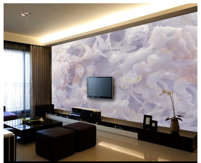 高档大气欧式玉雕壁画电视背景墙