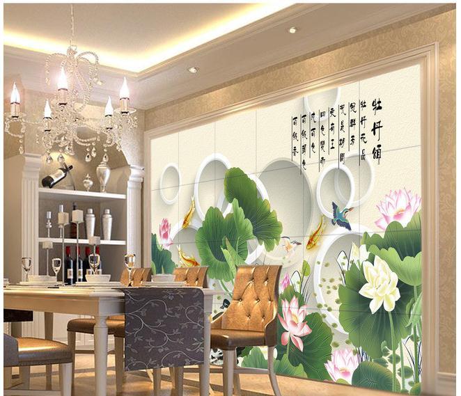清新淡雅中式古典中国风床头背景墙画