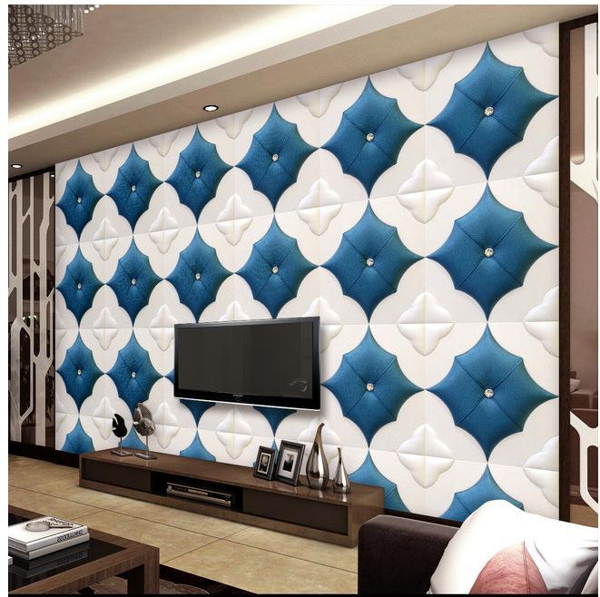软包客厅电视沙发床头背景墙