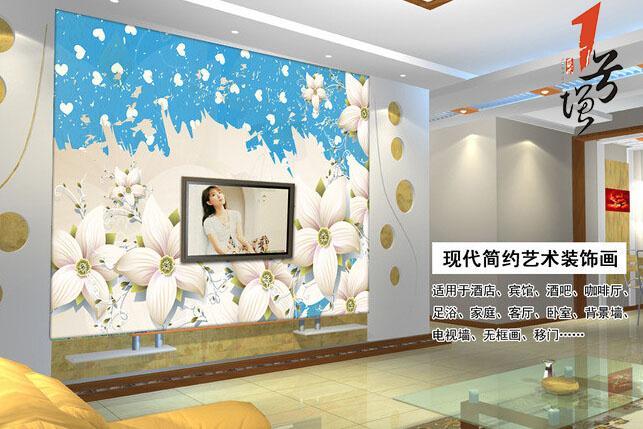 欧式精美欧式花卉电视背景墙