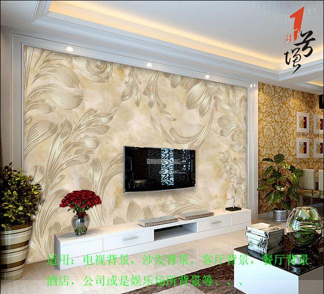 欧式精美欧式花纹大理石电视背景墙1