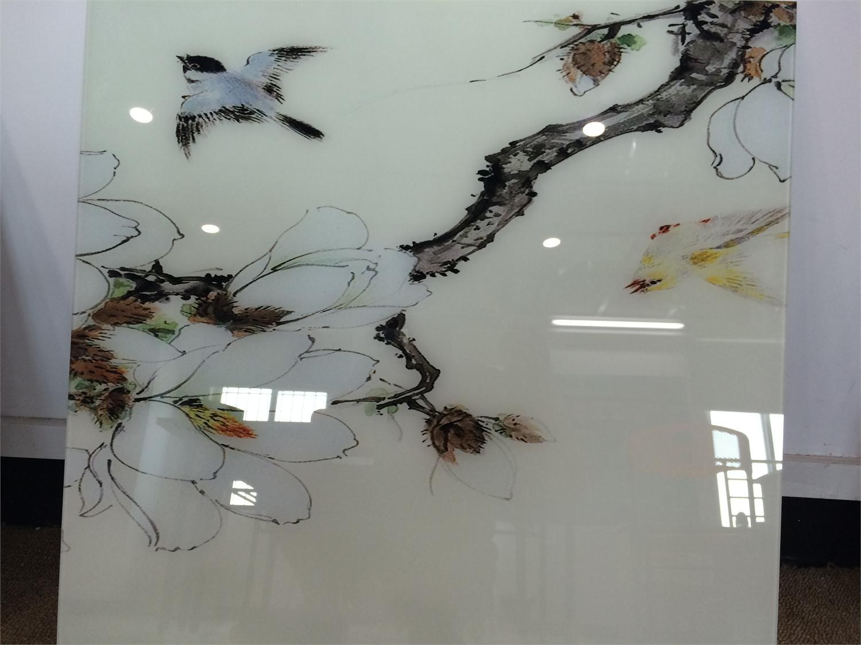 复合玻璃花鸟