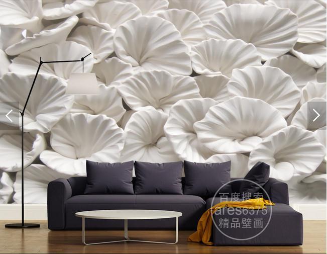 3d花卉花朵立体浮雕玉雕电视背景墙装饰画