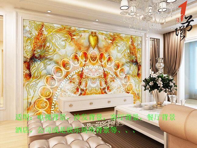 波西米亚黄宝石大理石背景墙