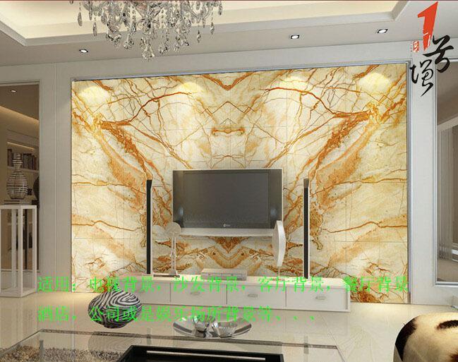 大理石材花纹仿玉电视沙发背景墙设计