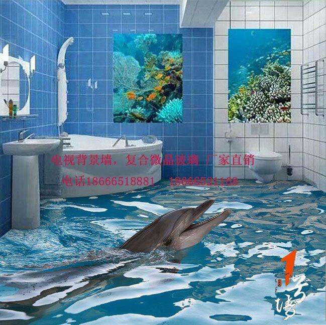 3D游泳池地板 3D浴室地板瓷砖贴图