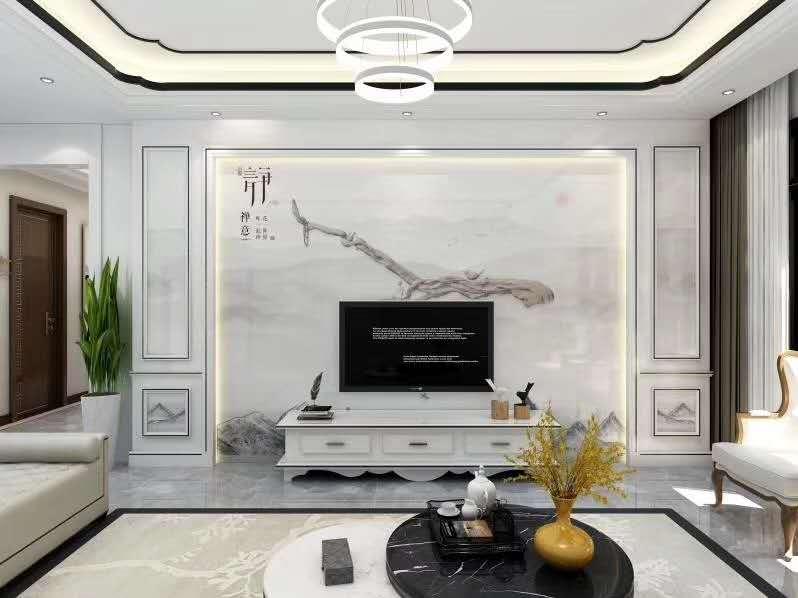 新中式背景墙—新中式风格背景墙—静(87)