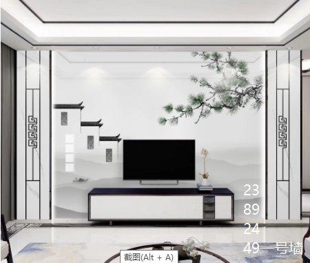 一号墙高端大气的新中式电视背景墙新房这么装30年不过时