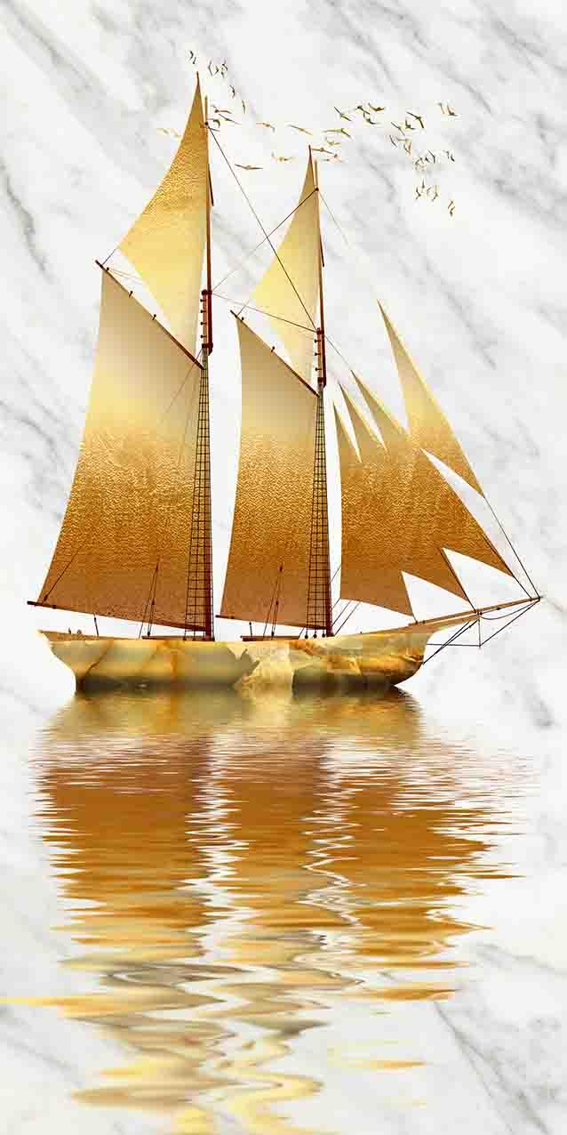 一号墙现代背景墙--一帆风顺(5)