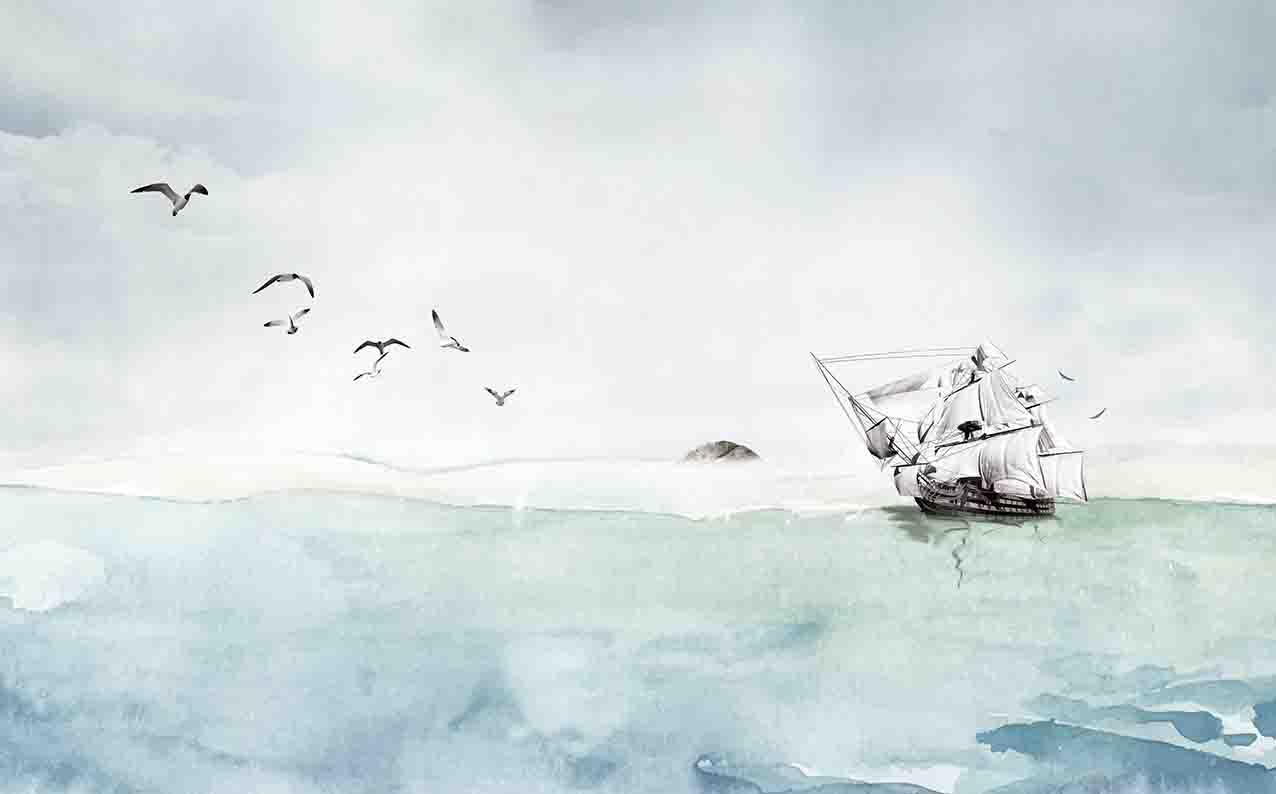 一号墙现代背景墙--一帆风顺(3)