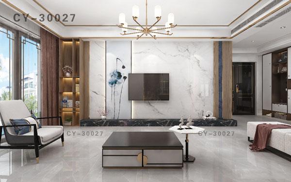 一号墙新品彩雕石材电视背景墙精品后现代YHQ-30027