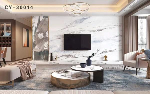 一号墙新品彩雕石材电视背景墙精品后现代YHQ-30014