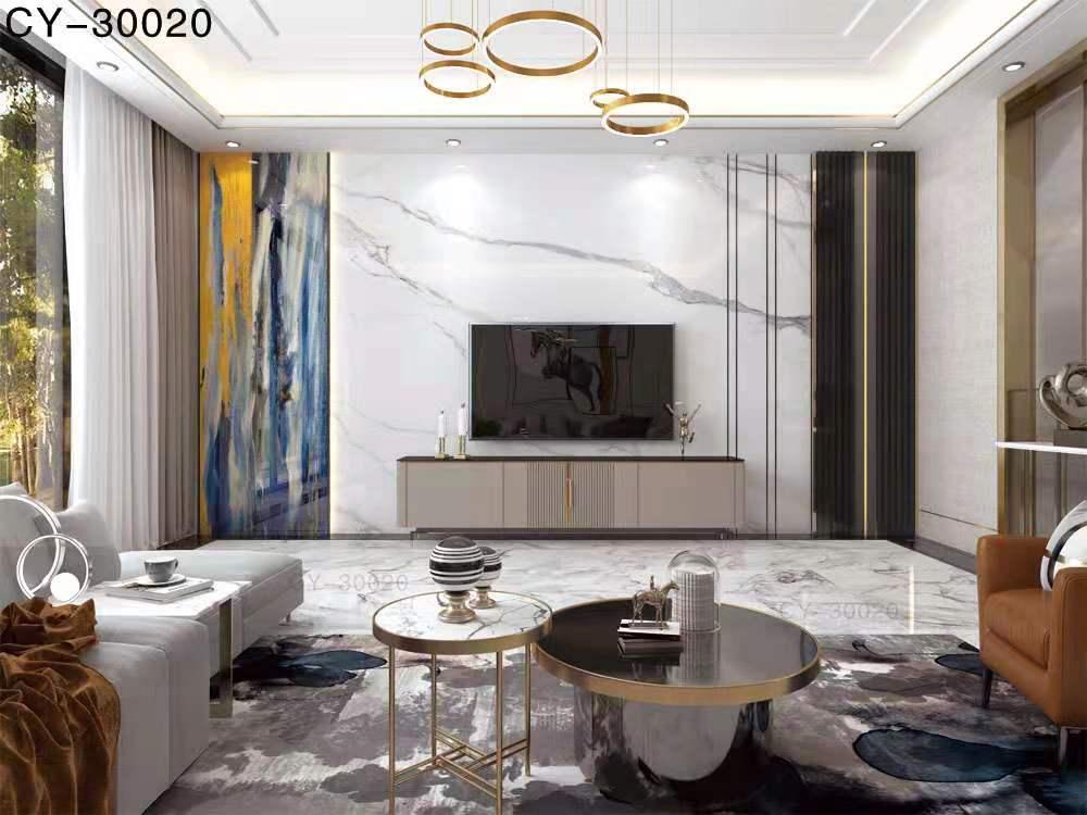 一号墙新品彩雕石材电视背景墙精品后现代YHQ-30020