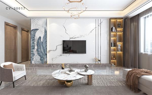 一号墙新品彩雕石材电视背景墙精品后现代YHQ-30017