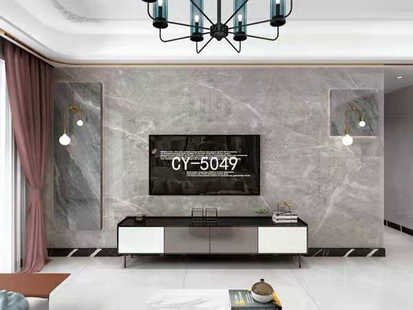 一号墙电视背景墙 罗马柱背景墙 悬空背景墙YHQ-5049