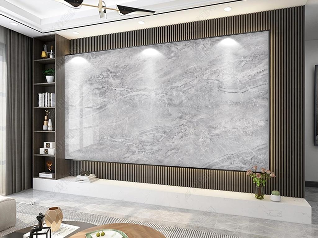 石材大理石纹悬空木格珊加石材背景墙