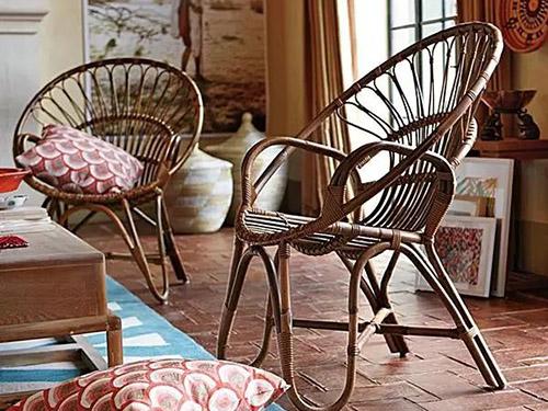 Contemporary revival of rattan furniture